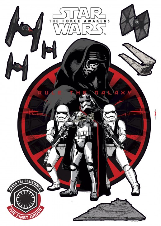 Wandsticker Star Wars First Order