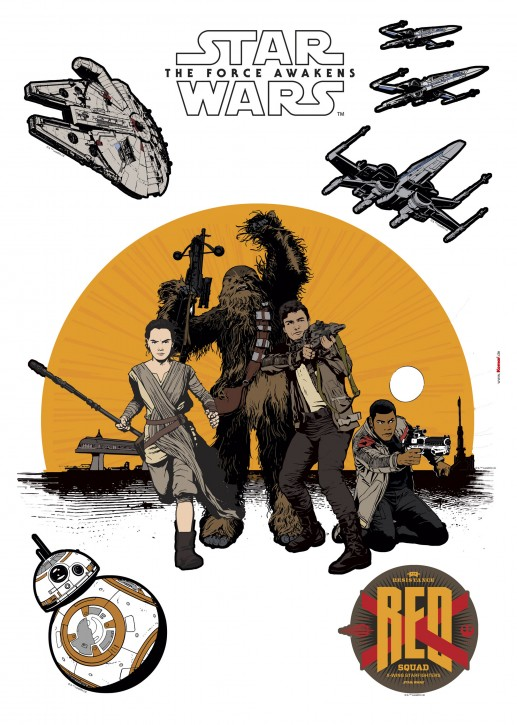 Wandsticker Star Wars Resistance