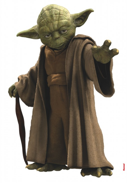 Wandsticker Star Wars Yoda