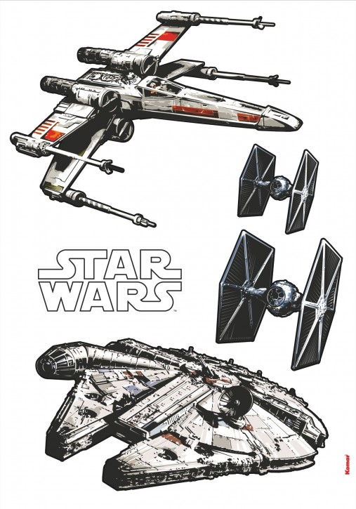 Wandsticker Star Wars Spaceships
