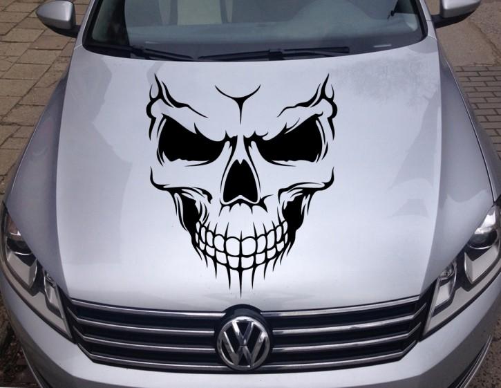 Autoaufkleber Skull Biker Totenkopf