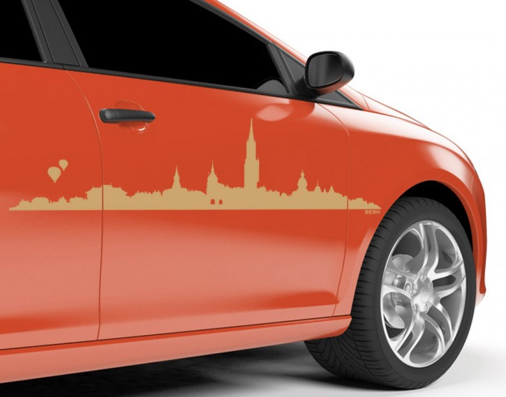 Autoaufkleber Skyline Bern