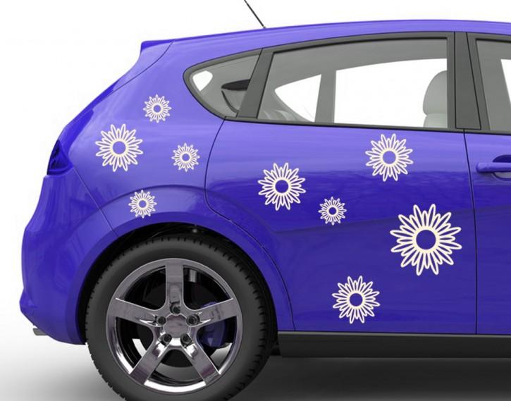 Autoaufkleber Sonnenblüten