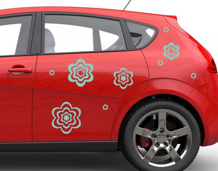 Autoaufkleber Streublütenmix