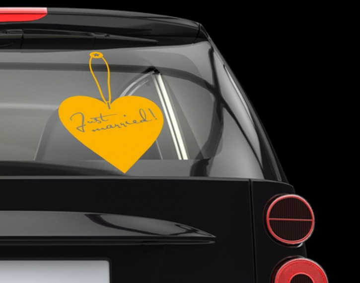 Autoaufkleber Label of love