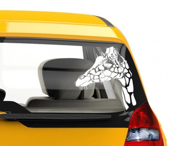 Autoaufkleber Giraffenkopf