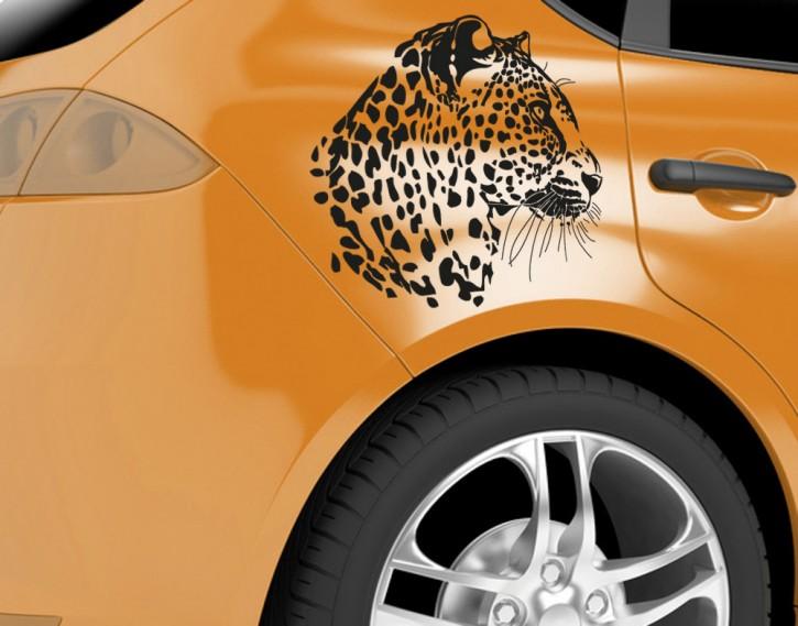 Autoaufkleber Leopardenkopf