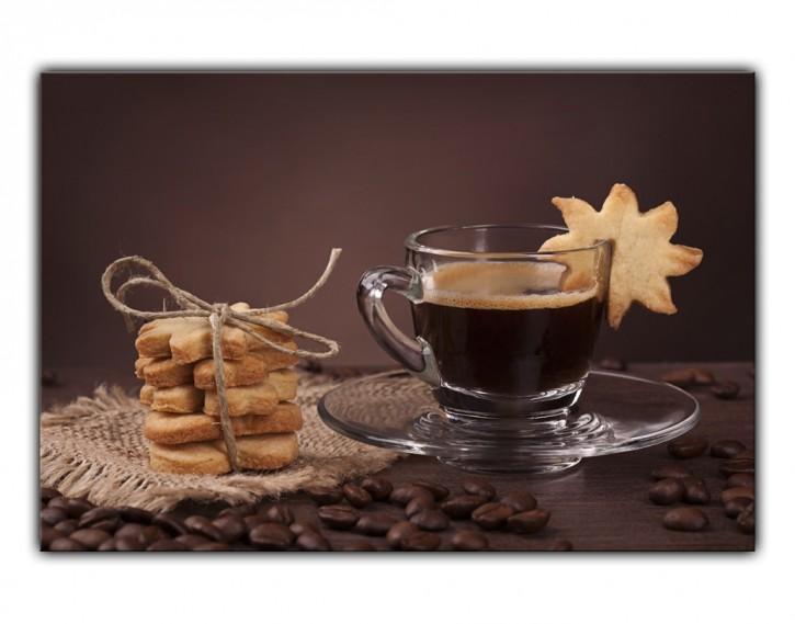 Alu-Dibond Wandbild Kaffee