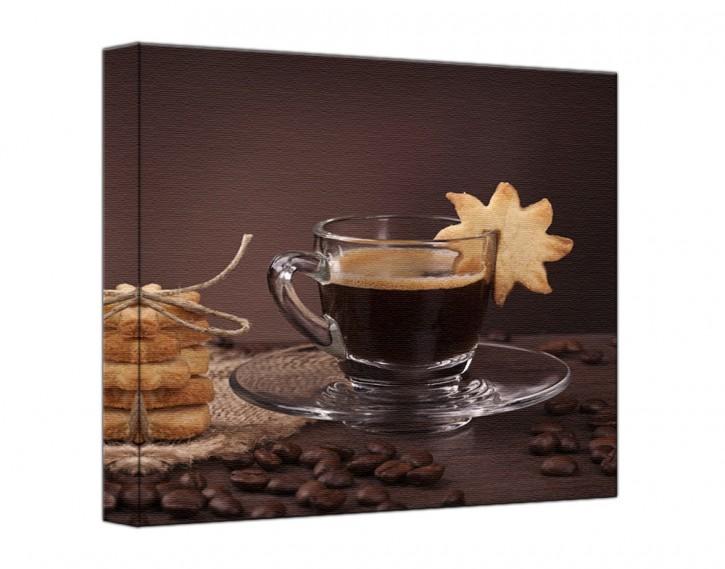 Leinwandbild Kaffee quadratisch