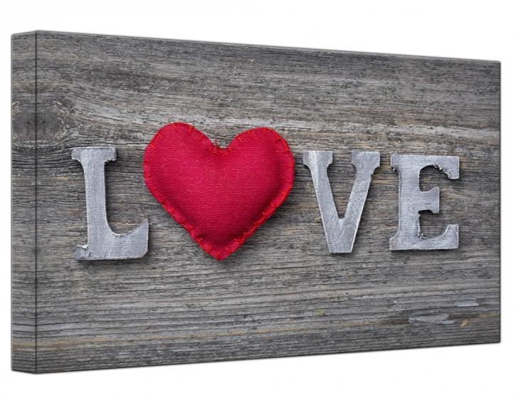 Leinwandbild Love