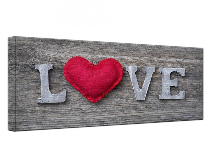 Leinwandbild Love Lang