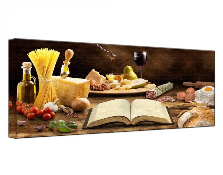Leinwandbild Mediterrane Küche Lang
