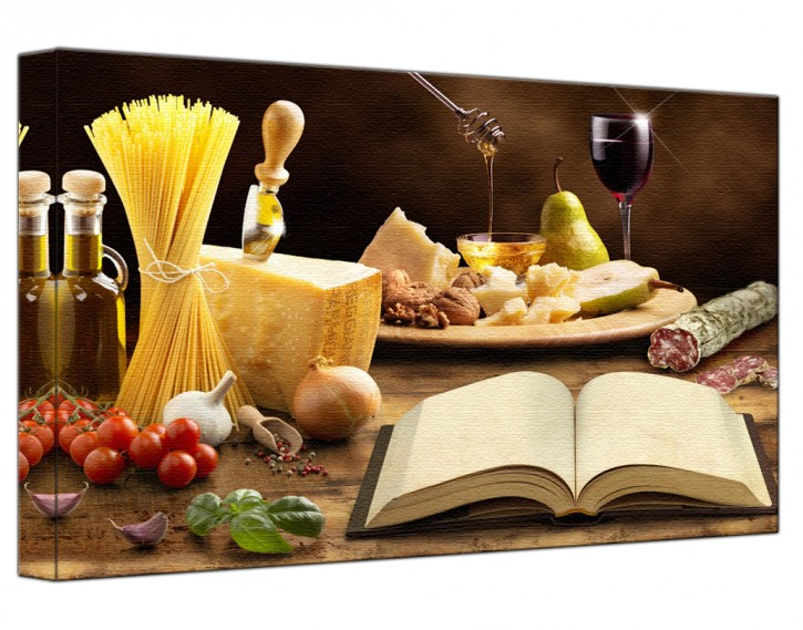 Leinwandbild Mediterrane Küche