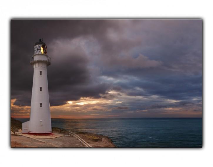 Alu-Dibond Wandbild Leuchtturm