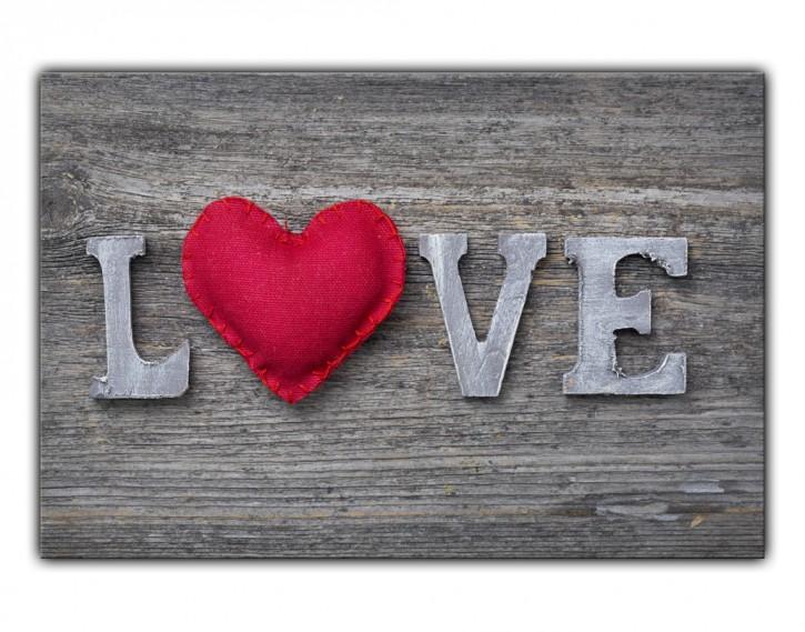 Alu-Dibond Wandbild Love