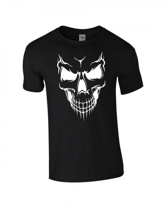 T-Shirt Skull Totenkopf Biker Rocker schwarz