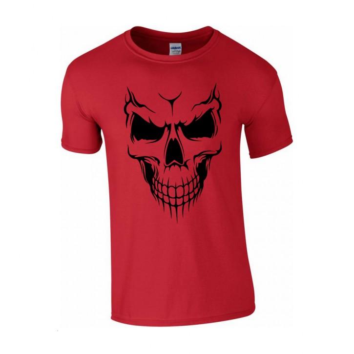 T-Shirt Skull Totenkopf Biker Rocker rot