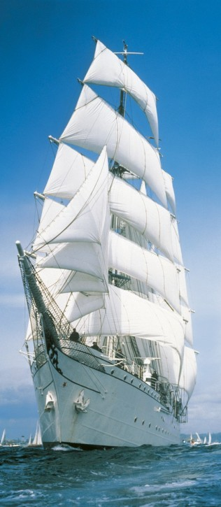 Türtapete Sailing Boat - Segelboot