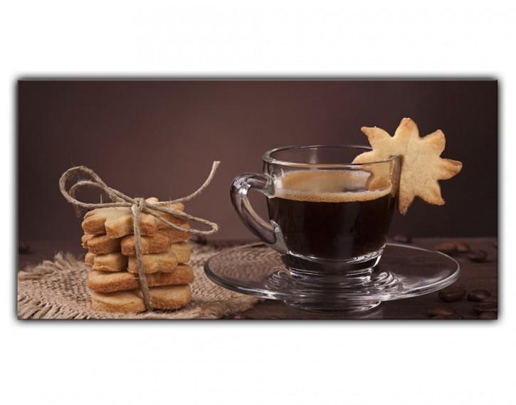 Alu-Dibond Wandbild Kaffee Lang
