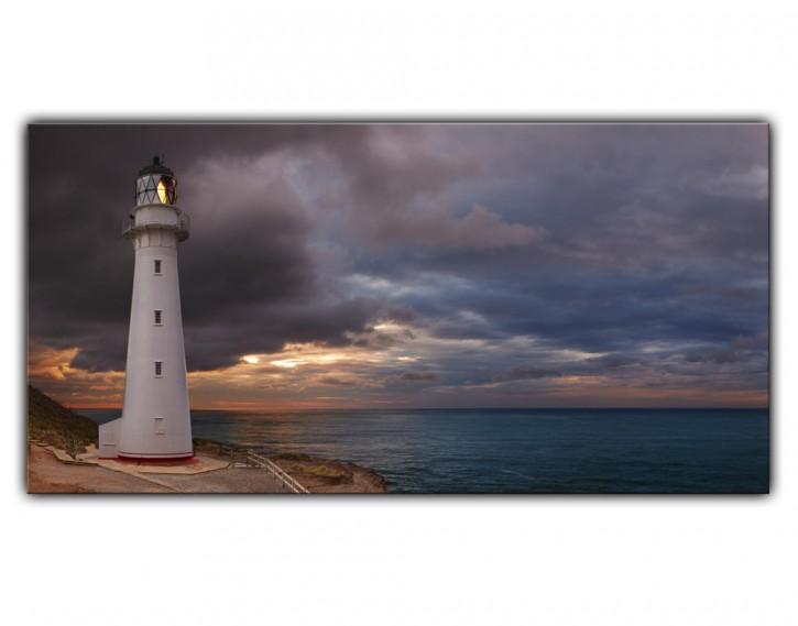 Alu-Dibond Wandbild Leuchtturm Lang