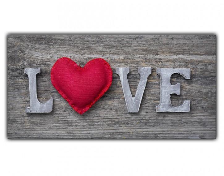 Alu-Dibond Wandbild Love Lang