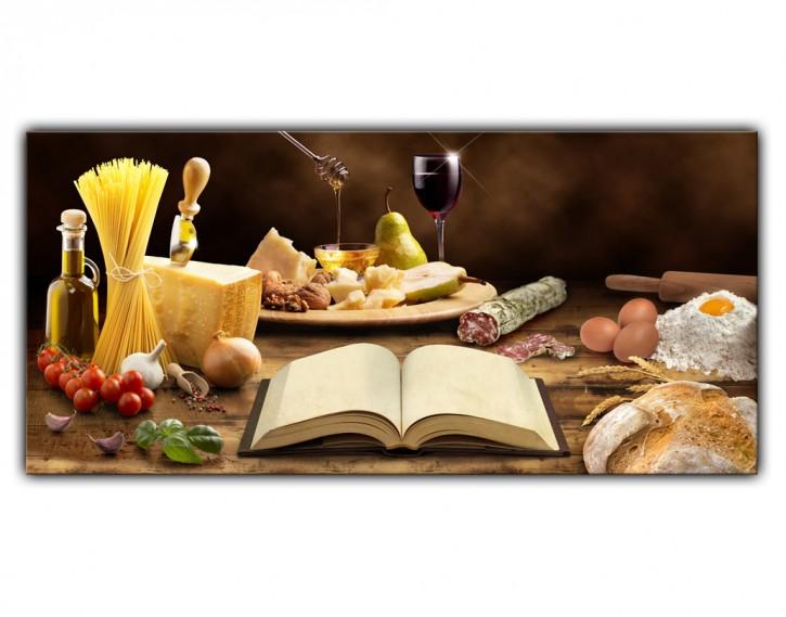 Alu-Dibond Wandbild Mediterrane Küche Lang
