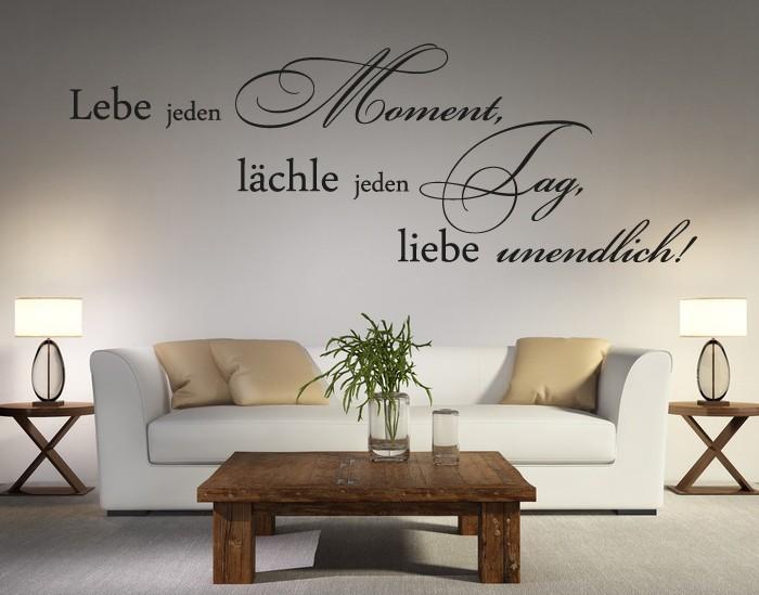 wandtattoo spr che wandtattoo zitate im online shop. Black Bedroom Furniture Sets. Home Design Ideas