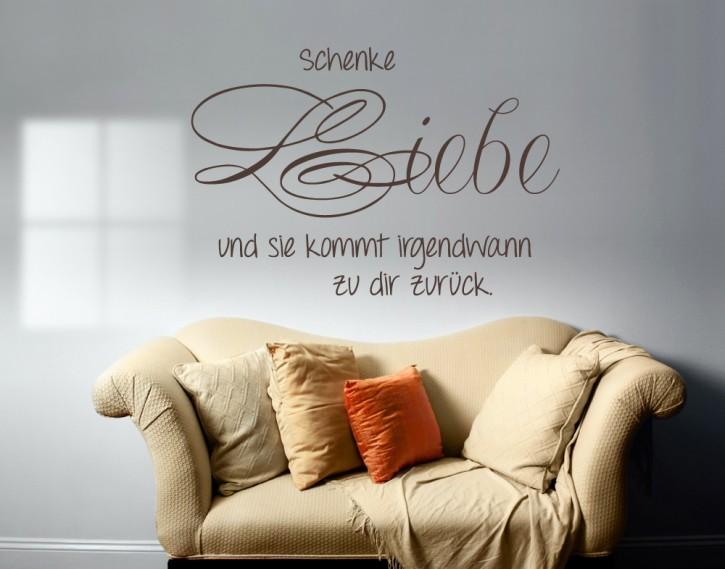 Wandtattoo Schenke Liebe