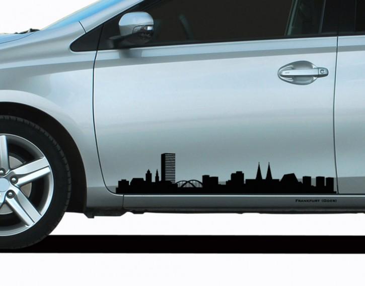 Autoaufkleber Frankfurt (Oder) Skyline