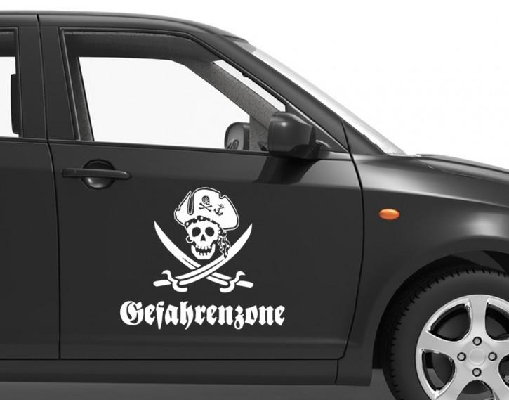 Autoaufkleber Gefahrenzone