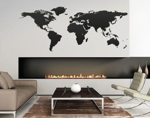 wandtattoo weltkarte kinderzimmer wonhzimmer wandaufkleber flur bad bsm001. Black Bedroom Furniture Sets. Home Design Ideas