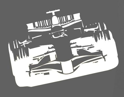 Wandtattoo Formel 1 Rennauto