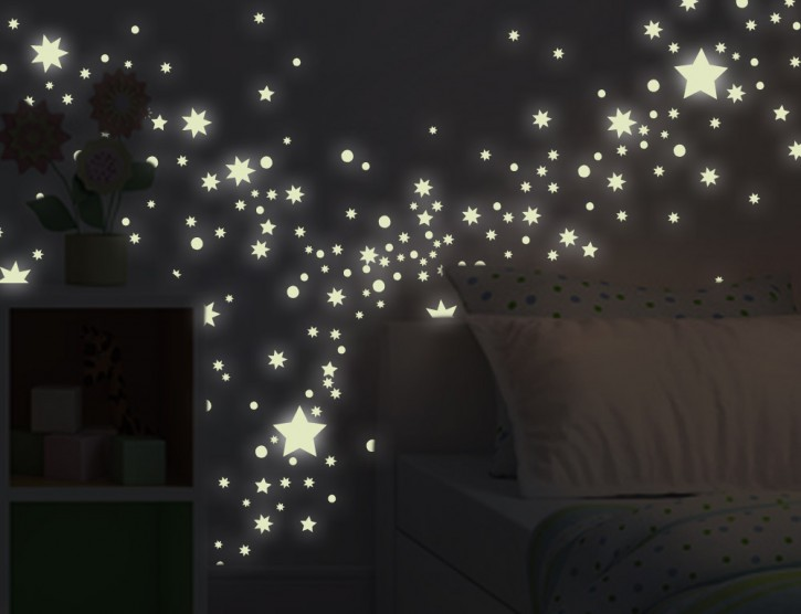 Wandtattoo Leuchtaufkleber-Set Sternenhimmel