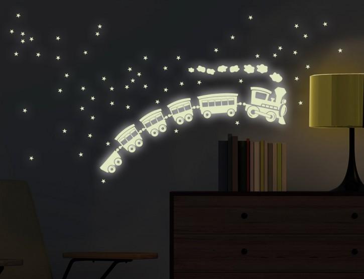 Wandtattoo Leuchtaufkleber Nachtzug