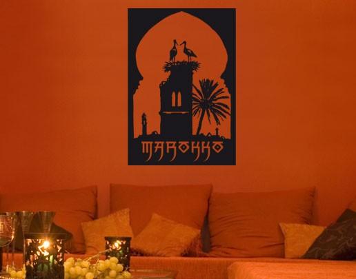 Wandtattoo Marokko