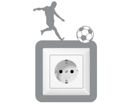 Steckdosentattoo Fußballschuss