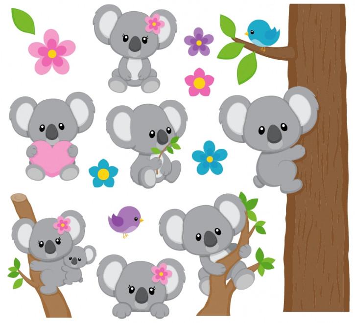 Wandsticker Koalas