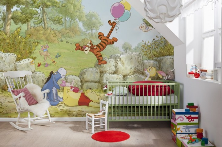 Fototapete Winnie Pooh Ballooning