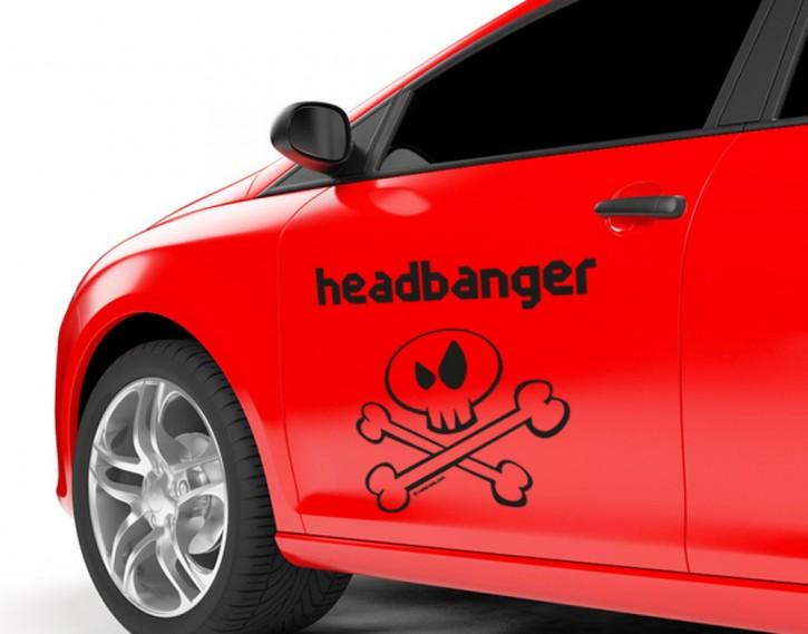 Autoaufkleber Metal-Kids Headbanger Inverse