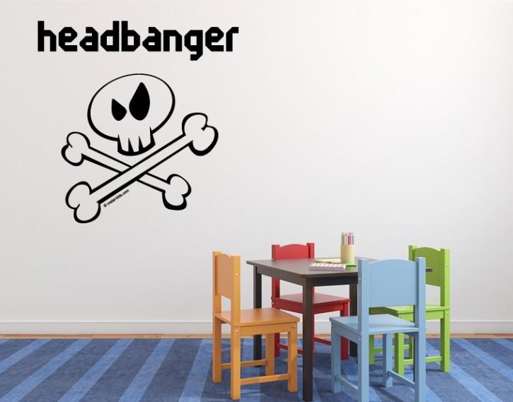 Wandtattoo Metal-Kids Headbanger Inverse