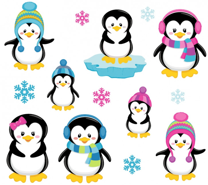 Wandsticker Pinguine