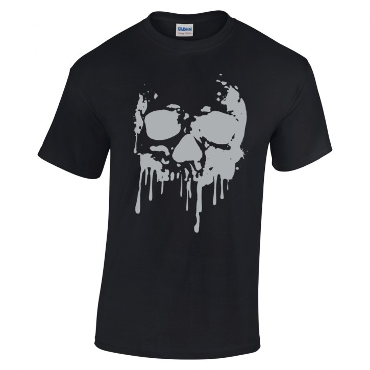 T-Shirt schwarz Skull Totenkopf Blood