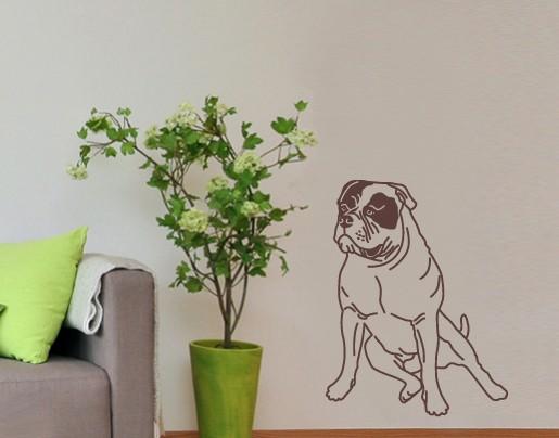 Wandtattoo Amerikanische Bulldogge