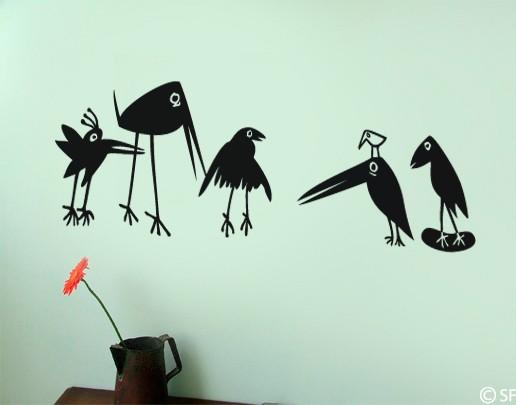 Wandtattoo Funny Birds