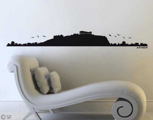 Wandtattoo Athen Skyline