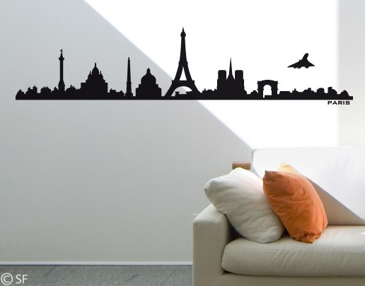 Wandtattoo Paris Skyline