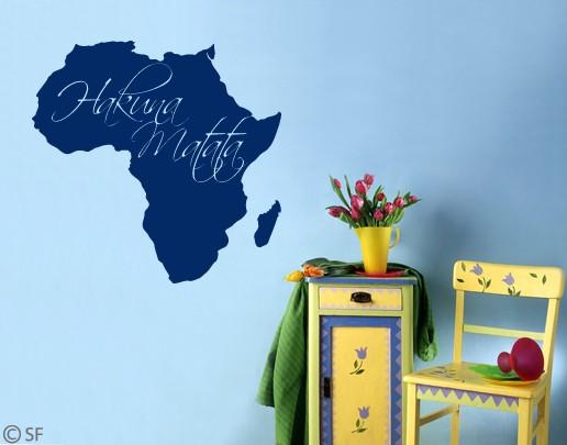 wandtattoo afrika hakuna matatta kinderzimmer kontinet k nig l wen flur uss059 ebay. Black Bedroom Furniture Sets. Home Design Ideas