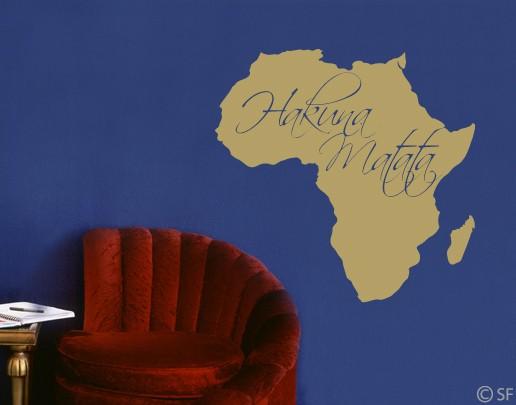 Wandtattoo hakuna matata afrika l we k nig wohnzimmer for Wandtattoo lowe