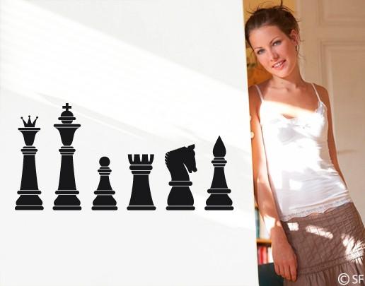 Wandtattoo Schachfiguren
