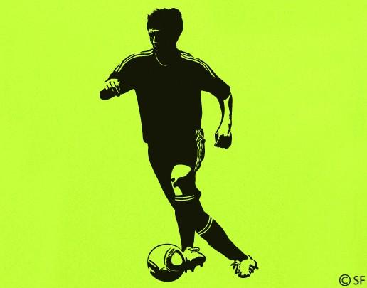 Wandtattoo Fußball Dribbler